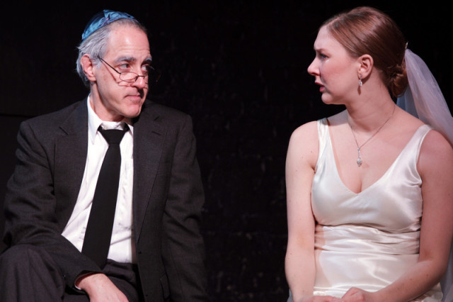 Mark Waldstein as Abe and Sydney Andrews as Rachel in Undo at Annex (Photo: Ian Johnston)