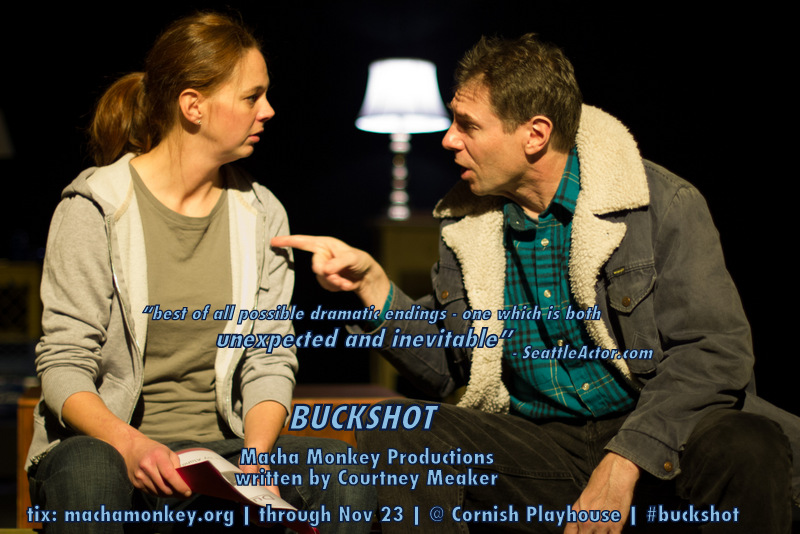 Katie Driscoll and Gianni Truzzi in Buckshot. Photo by Shane Regan