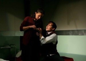 Amanda Zarr and Richard Nguyen Sloniker in Azeotrope's production of Gruesome Playground Injuries (Photo: Azeotrope)